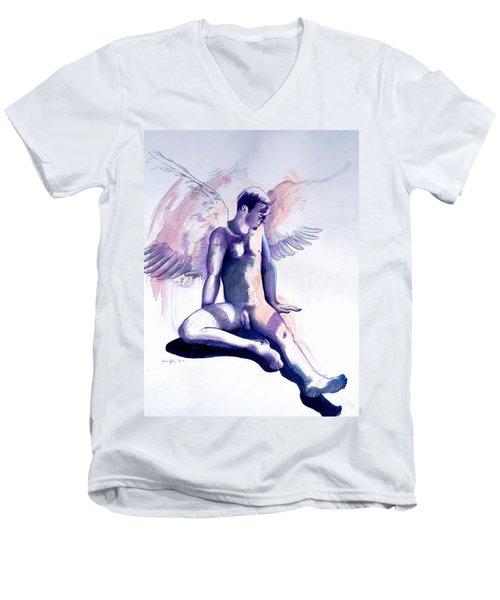 Resting Angel Men's V-Neck T-Shirt