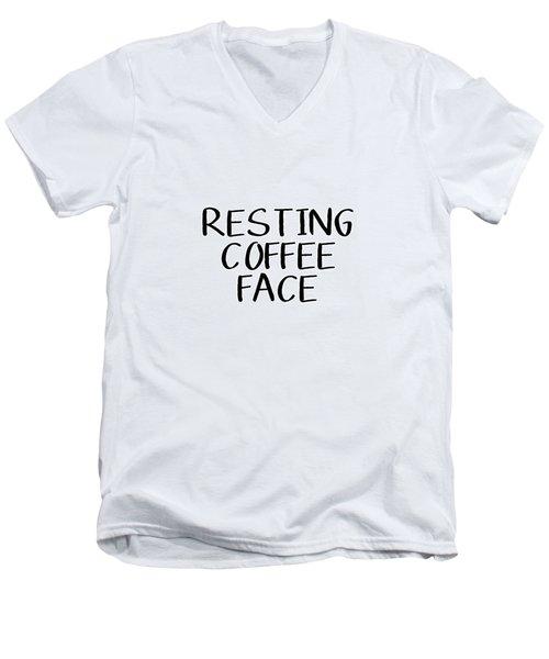 Resting Coffee Face-art By Linda Woods Men's V-Neck T-Shirt