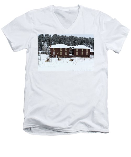 Resting Elk - 9131 Men's V-Neck T-Shirt