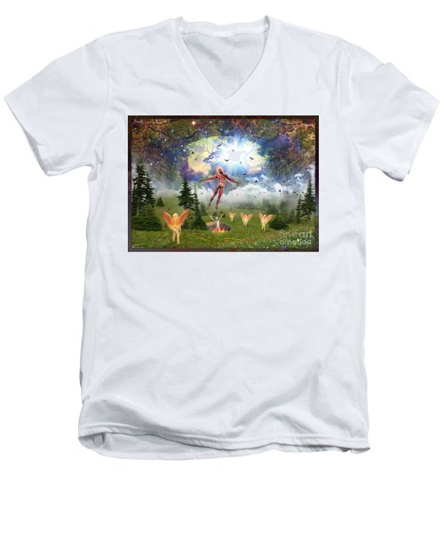 Resurrection Of Hieronymus Bosch Men's V-Neck T-Shirt
