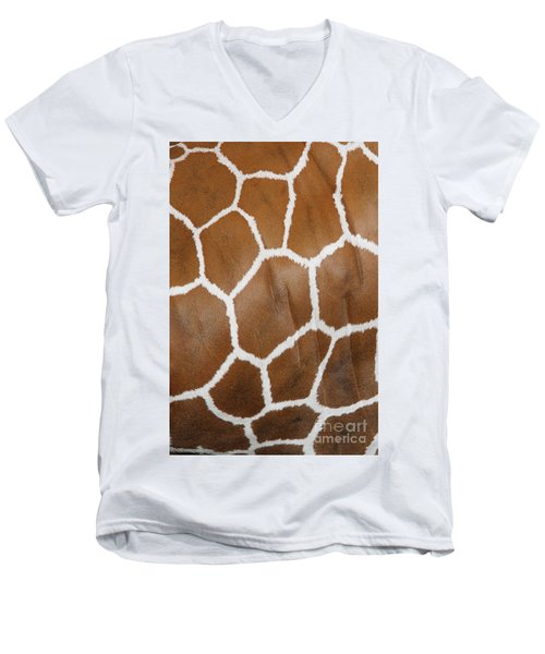 Reticulated Giraffe #2 Men's V-Neck T-Shirt