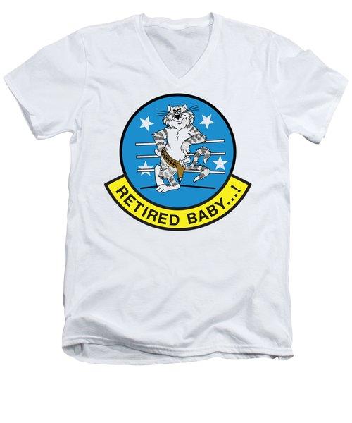 Retired Baby - Tomcat Men's V-Neck T-Shirt