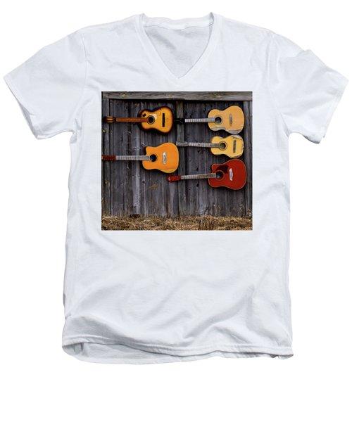 Retired Guitars  Men's V-Neck T-Shirt