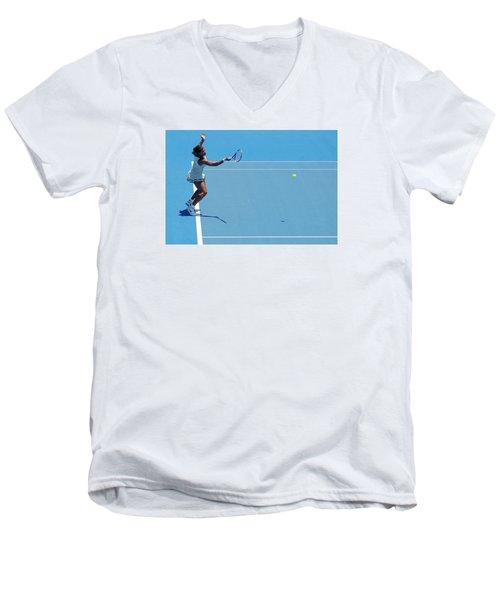 Return - Serena Williams Men's V-Neck T-Shirt by Andrei SKY