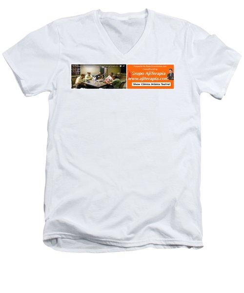 Revista Ajiterapia Men's V-Neck T-Shirt