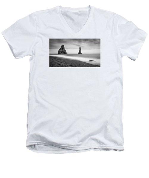 Reynisfjara  Men's V-Neck T-Shirt by Brad Grove