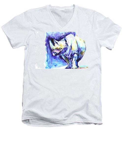 Rhi-no You D'n't Men's V-Neck T-Shirt