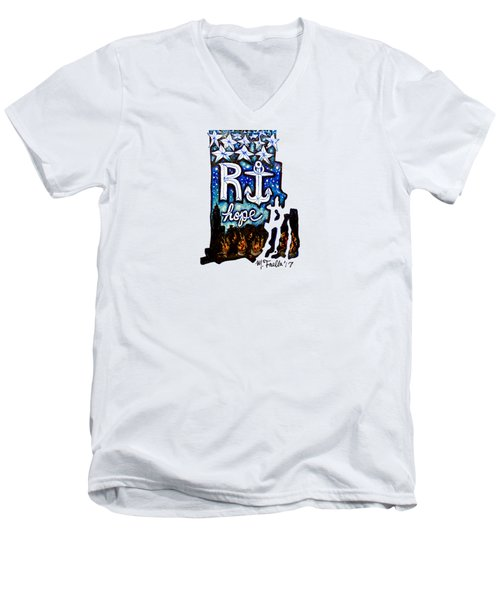 Rhode Island, Hope Men's V-Neck T-Shirt