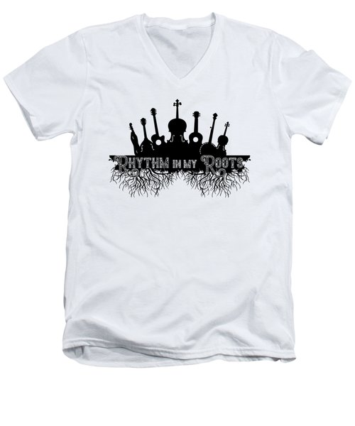 Rhythm In My Roots Men's V-Neck T-Shirt