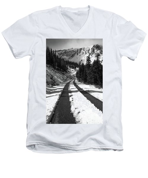 Ribbon To The Unknown Monochrome Art By Kaylyn Franks Men's V-Neck T-Shirt