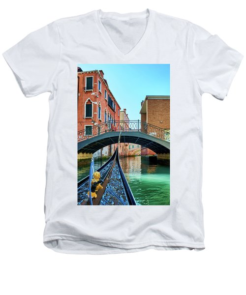 Ride On Venetian Roads Men's V-Neck T-Shirt