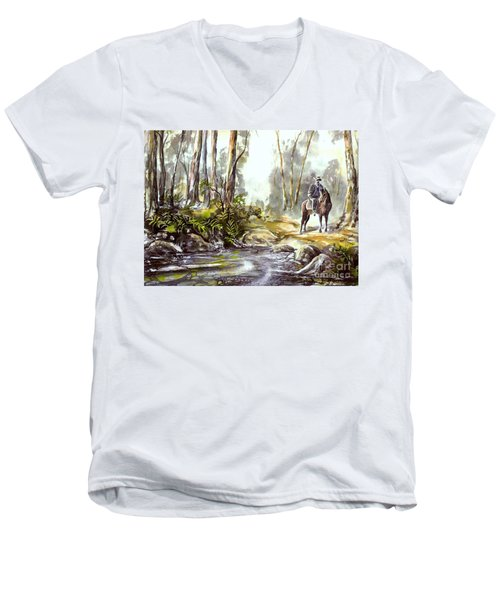 Rider By The Creek Men's V-Neck T-Shirt