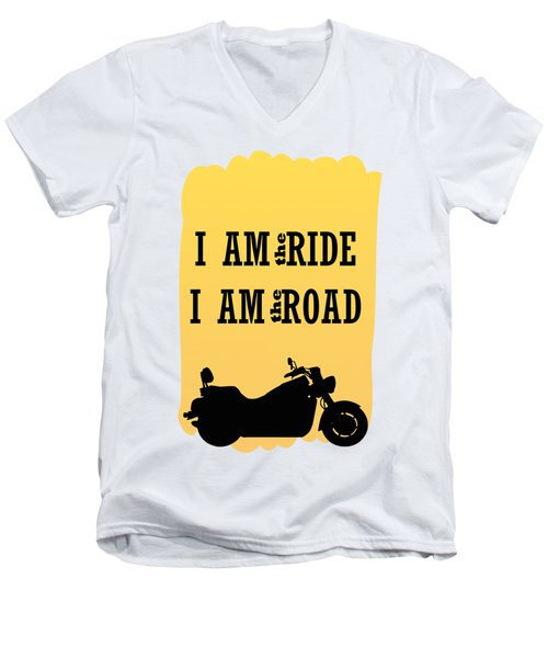 Rider Is The Ride Is The Road Men's V-Neck T-Shirt by Keshava Shukla