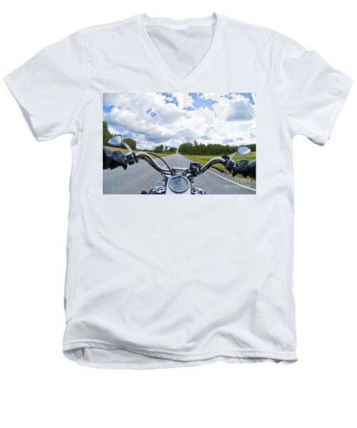 Riders Eye View Men's V-Neck T-Shirt by Micah May
