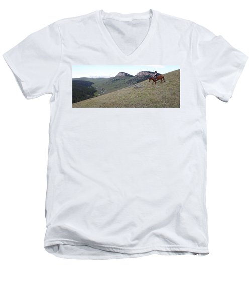 Ridge Riding Men's V-Neck T-Shirt