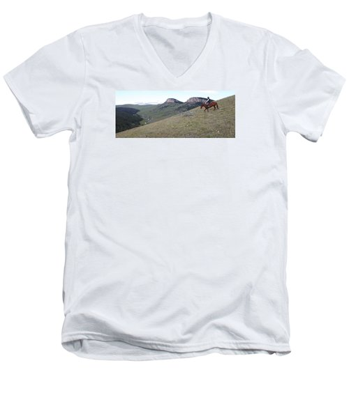 Ridge Riding Men's V-Neck T-Shirt