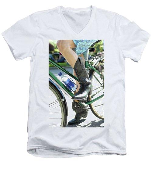 Riding In Style Men's V-Neck T-Shirt