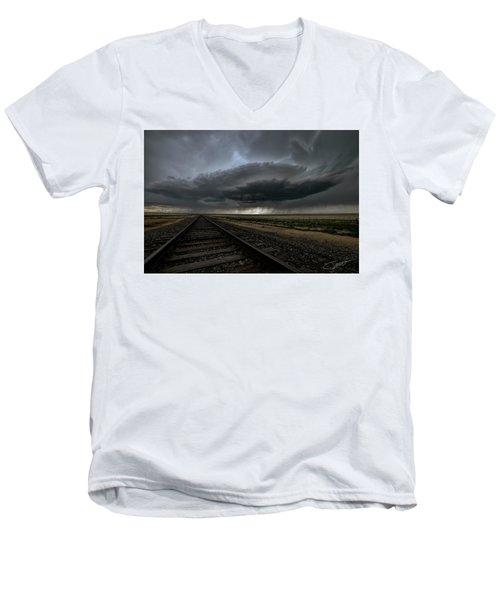 Right On Track Men's V-Neck T-Shirt
