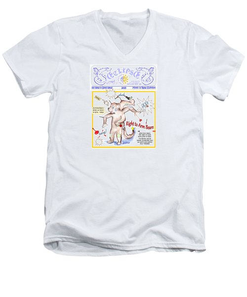 Real Fake News Right To Arm Bears 1 Men's V-Neck T-Shirt
