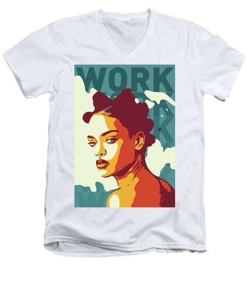 Rihanna Men's V-Neck T-Shirt by Greatom London