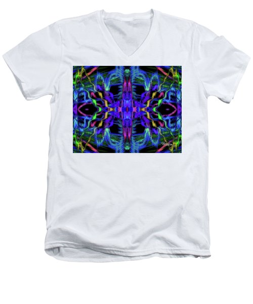 Rings Of Fire Dopamine #156 Men's V-Neck T-Shirt by Barbara Tristan