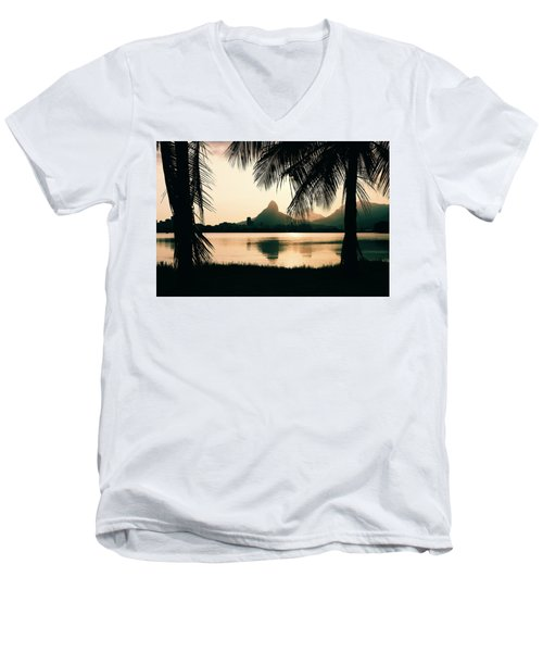 Rio De Janeiro, Brazil Landscape Men's V-Neck T-Shirt