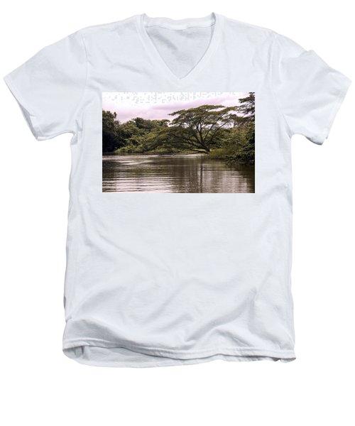 Riparian Rainforest Canopy Men's V-Neck T-Shirt