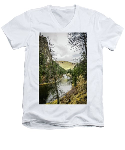 River In The Canyon Men's V-Neck T-Shirt