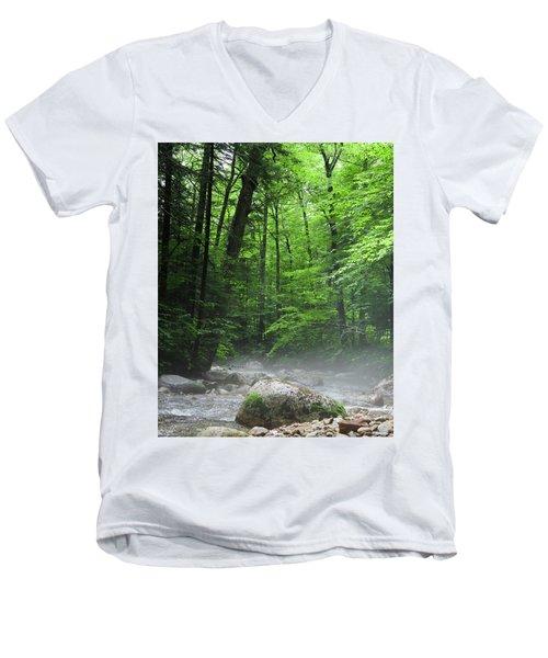 River Mist Men's V-Neck T-Shirt