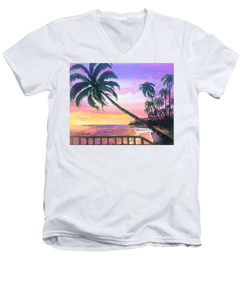 River Road Sunrise Men's V-Neck T-Shirt