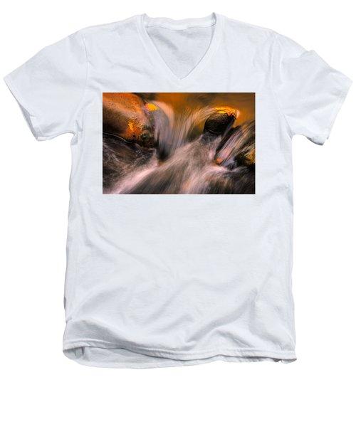 River Rocks, Zion National Park Men's V-Neck T-Shirt