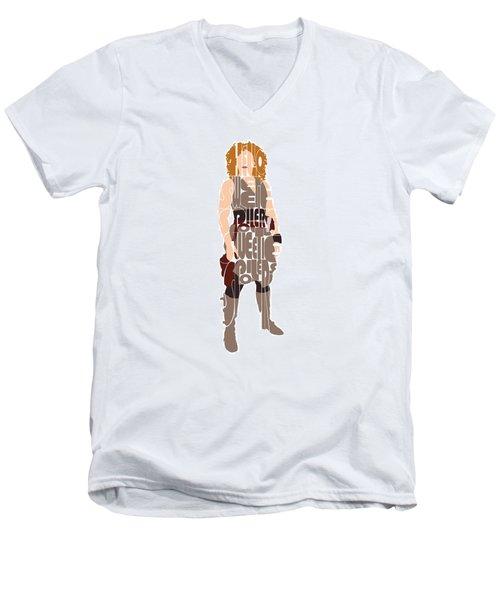 River Song Men's V-Neck T-Shirt by Jean Haynes