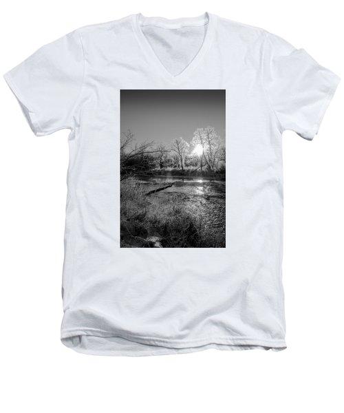 Rivers Edge Men's V-Neck T-Shirt by Annette Berglund