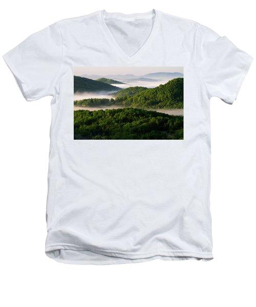 Rivers Of White Men's V-Neck T-Shirt
