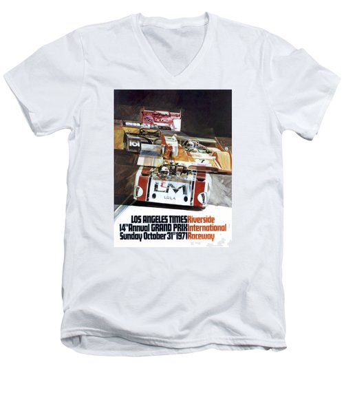 Riverside Can-am Men's V-Neck T-Shirt by Peter Chilelli
