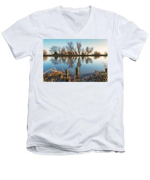 Riverside Trees Men's V-Neck T-Shirt