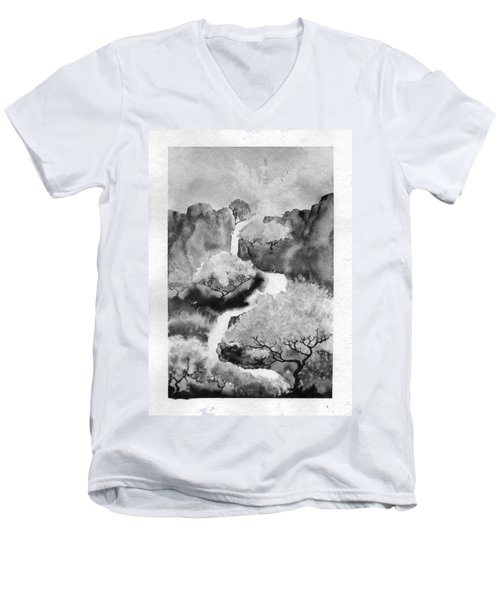 Riviere Celeste Men's V-Neck T-Shirt by Marc Philippe Joly