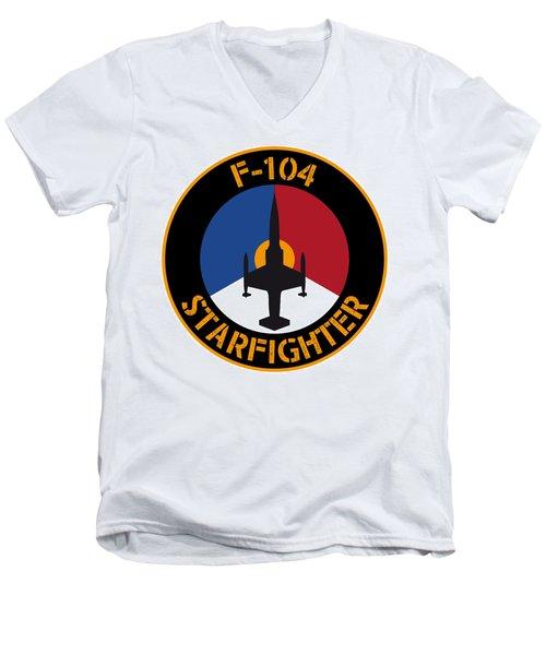 Rnlaf F-104 Starfighter Men's V-Neck T-Shirt by Nop Briex