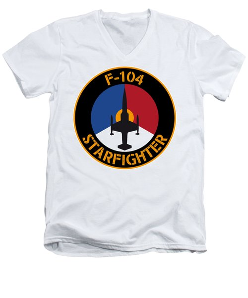 Rnlaf F-104 Starfighter Men's V-Neck T-Shirt