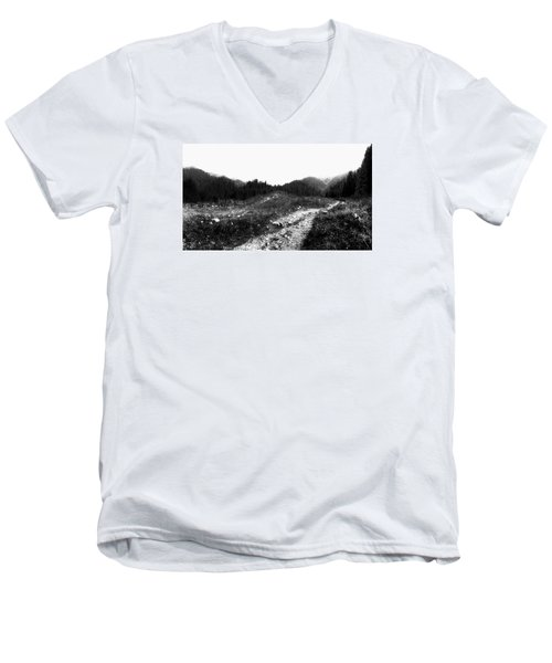 Men's V-Neck T-Shirt featuring the photograph Road by Hayato Matsumoto