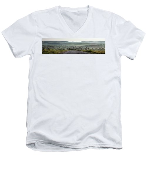 Road To The Forest Men's V-Neck T-Shirt by Yoel Koskas