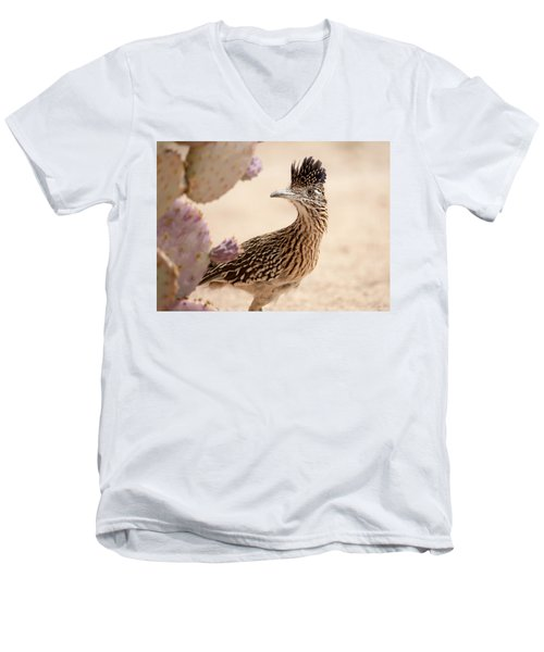 Men's V-Neck T-Shirt featuring the photograph Roadrunner by Dan McManus