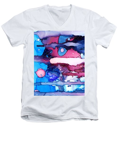 Roaming Free In The Valley Of The Elephants Men's V-Neck T-Shirt by Sir Josef - Social Critic -  Maha Art