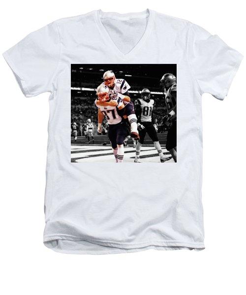 Rob Gronkowski And Tom Brady Men's V-Neck T-Shirt