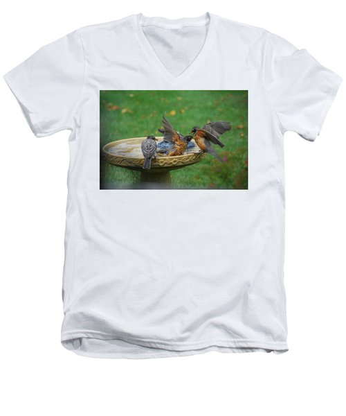 Robins Bathing Men's V-Neck T-Shirt