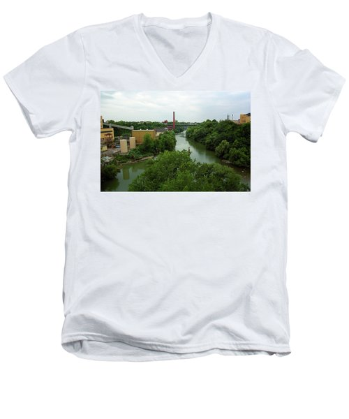 Rochester, Ny - Genesee River 2005 Men's V-Neck T-Shirt by Frank Romeo