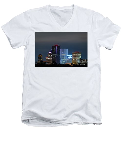 Rochester Ny Twilight Men's V-Neck T-Shirt