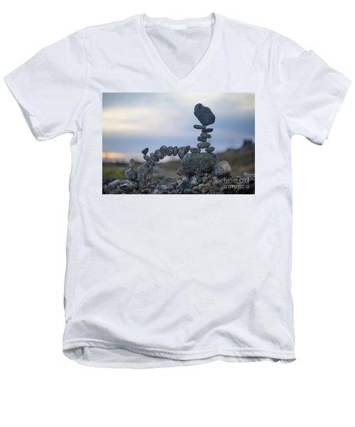 Rock Monster Men's V-Neck T-Shirt
