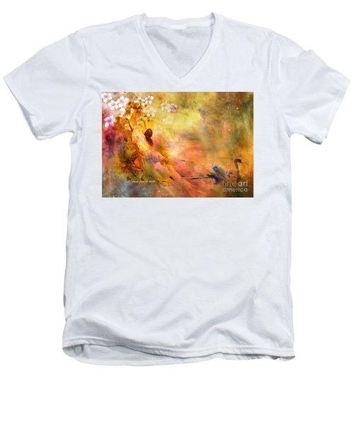 Rock Of Ages Men's V-Neck T-Shirt by Annie Zeno