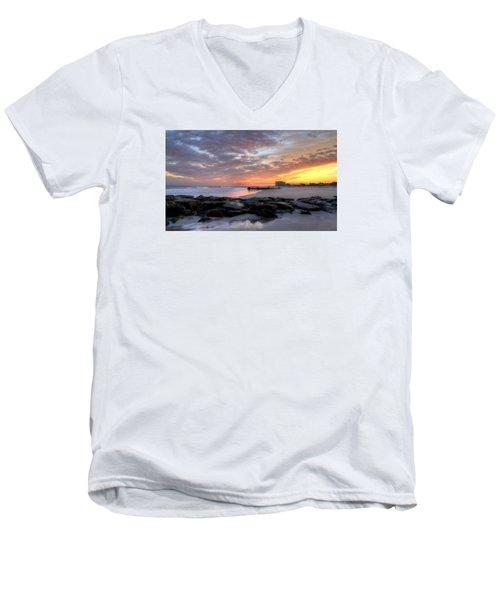 Rock On Men's V-Neck T-Shirt by John Loreaux